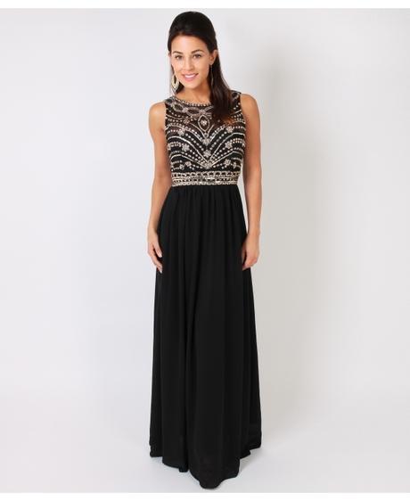 NOVINKA - černé společenské šaty, S,M,L, 42
