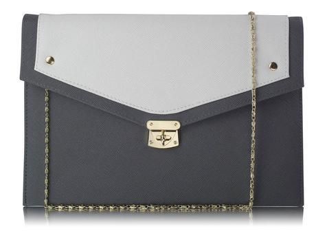 NOVINKA - černo bílá kabelka, psaníčko,