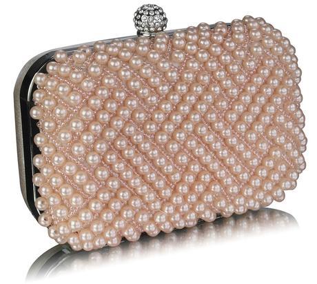 NOVINKA - černo-bílá perličková kabelka,