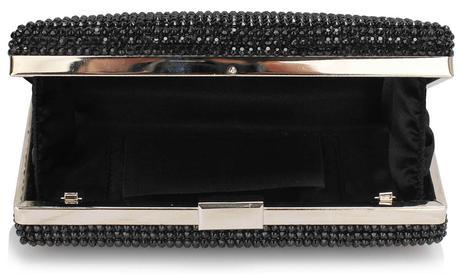 NOVINKA - černo-ivory společenská kabelka,