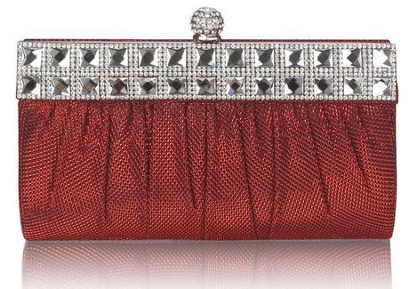 NOVINKA - červená malá kabelka, psaníčko,