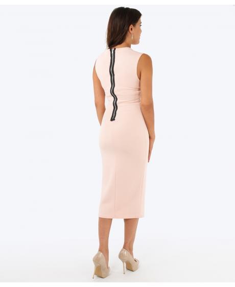 NOVINKA - červené společenské šaty, 38