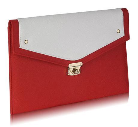 NOVINKA - červeno bílá kabelka, psaníčko,