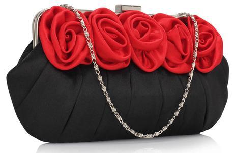 NOVINKA - červeno-černá společenská kabelka,