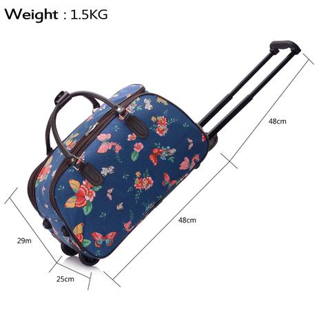 NOVINKA - cestovní kufr, motýlci, taška,