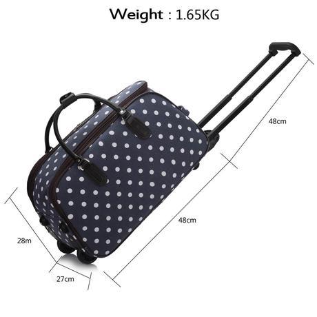 NOVINKA - cestovní kufr, puntík, retro, taška,