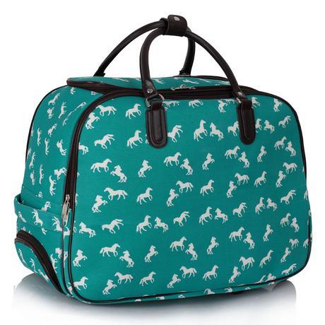 NOVINKA - cestovní kufr, taška, koně,