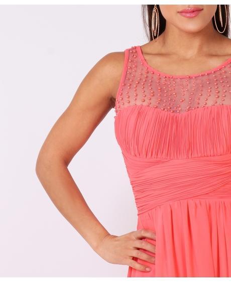 NOVINKA - coral společenské, svatební šaty, M