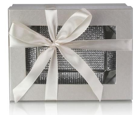 NOVINKA - extravagantní stříbrná kabelka,