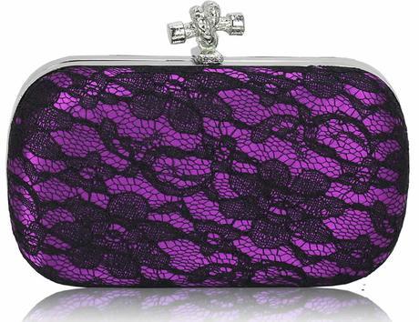 NOVINKA - fialová krajková kabelka,