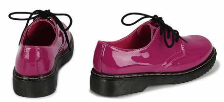 NOVINKA - fialové, růžové šněrovací mokasíny, 36