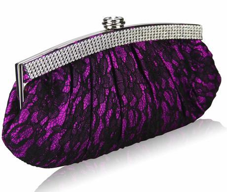 NOVINKA - fialovo-černé extravagantní lodičky, kab, 36