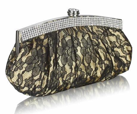 NOVINKA - krajková zlatá kabelka,