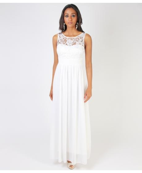 NOVINKA - krajkové svatební, společenské šaty, S
