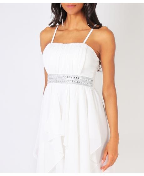 NOVINKA - krátké bílé svatební, společenské šaty, 38