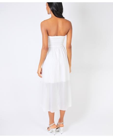 NOVINKA - krátké bílé svatební, společenské šaty, 40