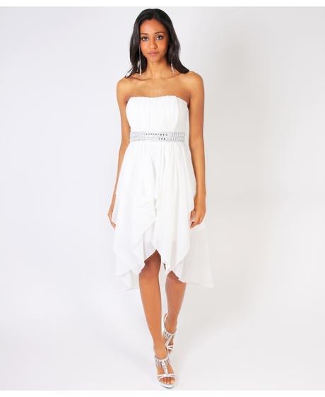 NOVINKA - krátké bílé svatební, společenské šaty, S