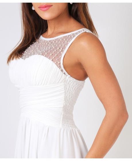 NOVINKA - krémové šaty, svatební, společenské, 42