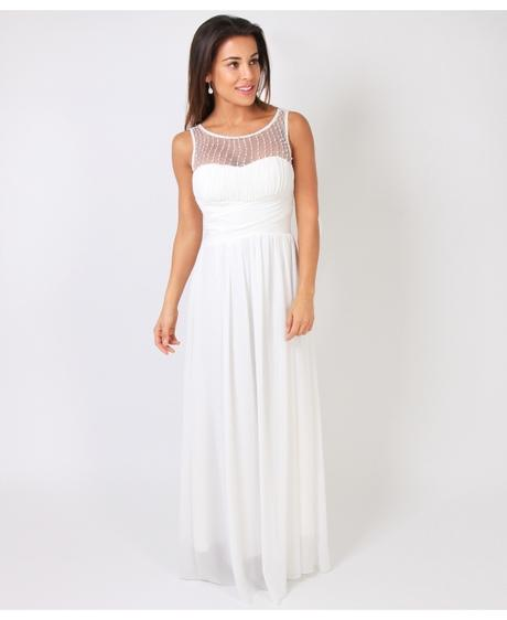 NOVINKA - krémové šaty, svatební, společenské, L