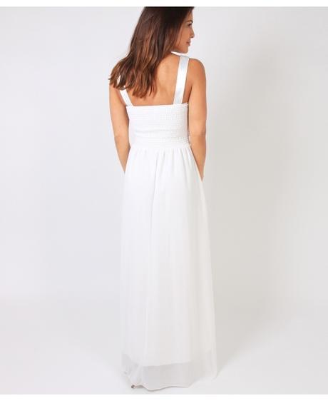 NOVINKA - krémové šaty, svatební, společenské, S