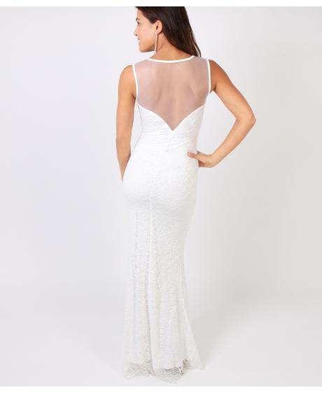 NOVINKA - krémové šaty, svatební, společenské, vin, L