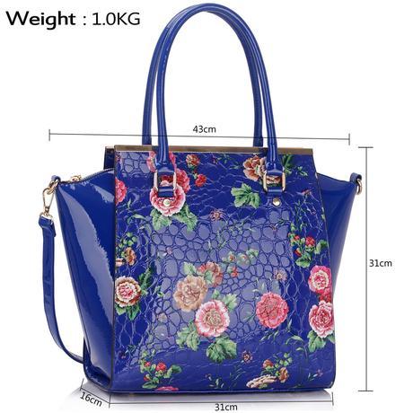 NOVINKA - květovaná kabelka, růžová,