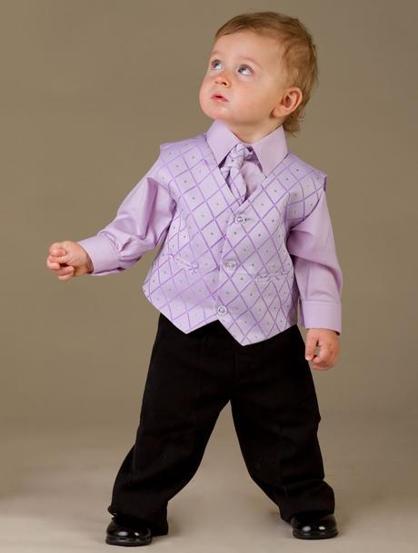 NOVINKA - lilla, světle fialový oblek, 104