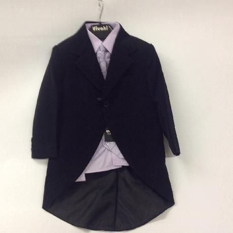 NOVINKA - lilla, světle fialový oblek, 116