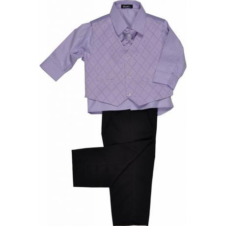 NOVINKA - lilla, světle fialový oblek, 122