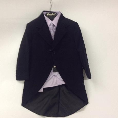 NOVINKA - lilla, světle fialový oblek, 74