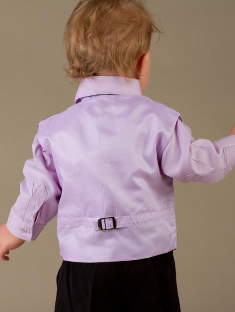 NOVINKA - lilla, světle fialový oblek, 80