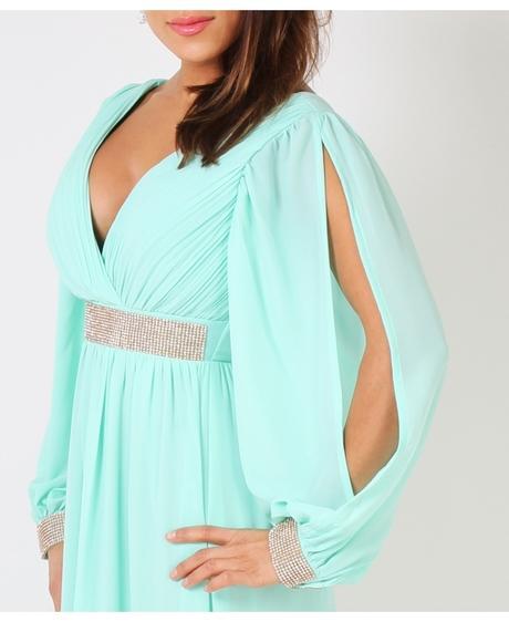 NOVINKA - Mint svatební, společenské éterické šaty, 42