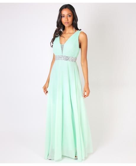 NOVINKA - Mint svatební, společenské éterické šaty, 36