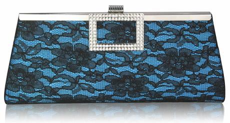 NOVINKA - modrá krajková kabelka,