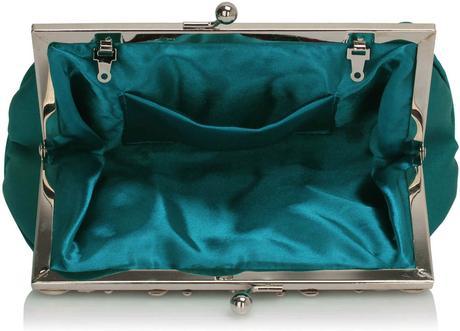 NOVINKA - modrá společenská kabelka,