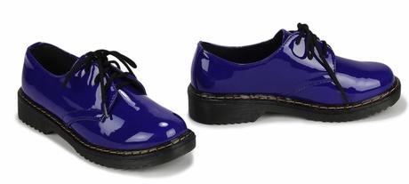 NOVINKA - modré šněrovací mokasíny, boty do práce, 40