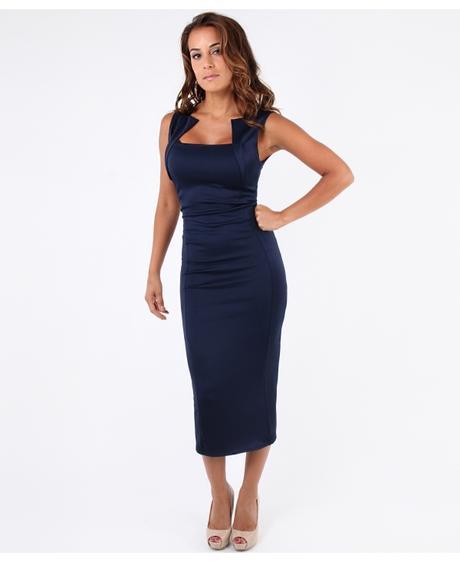 NOVINKA - modré společenské šaty, 42