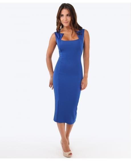 NOVINKA - modré společenské šaty, 48