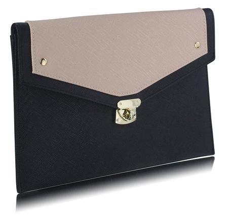 NOVINKA - modro bílá kabelka, psaníčko,