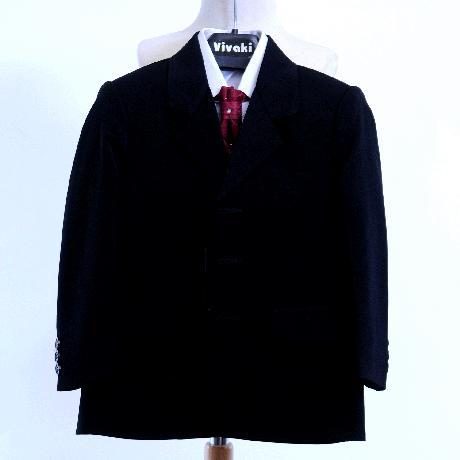 NOVINKA - oblek pro chlapce, burgundy, frak, 104
