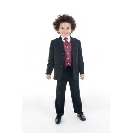 NOVINKA - oblek pro chlapce, burgundy, frak, 128