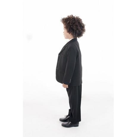 NOVINKA - oblek pro chlapce, burgundy, frak, 164