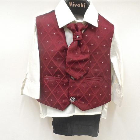 NOVINKA - oblek pro chlapce, burgundy, vínový, 110