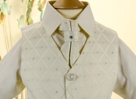 NOVINKA - oblek pro chlapce k prodeji, celokrémový, 116