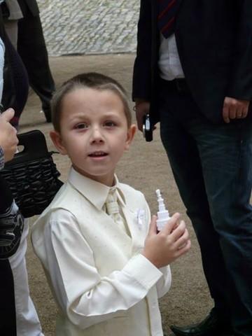 NOVINKA - oblek pro chlapce k prodeji, frak, 110