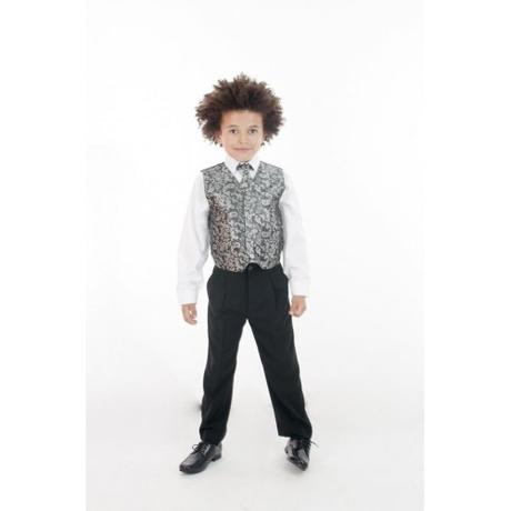 NOVINKA - oblek pro chlapce k prodeji, stříbrný, 122