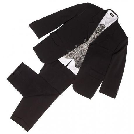 NOVINKA - oblek pro chlapce k prodeji, stříbrný, 110