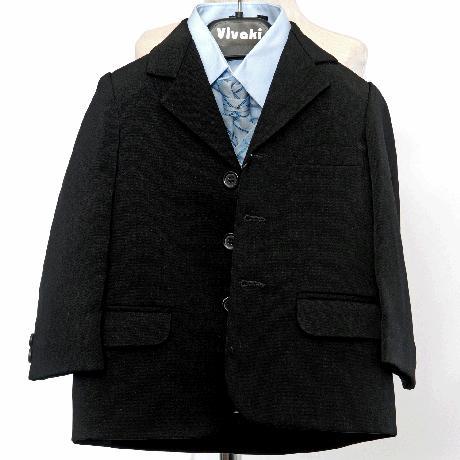 NOVINKA - oblek pro chlapce, modrý oblek, frak, 158