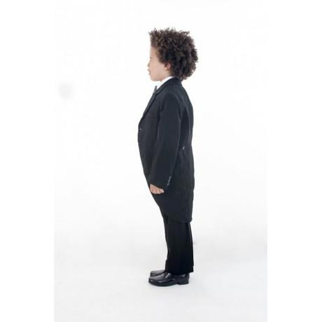 NOVINKA - oblek pro chlapce, stříbrný, sako, 80