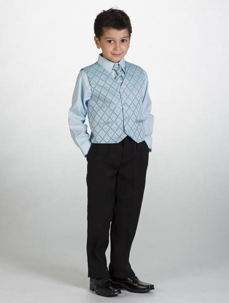 NOVINKA - oblek pro chlapce, světle modrý, sako, 128